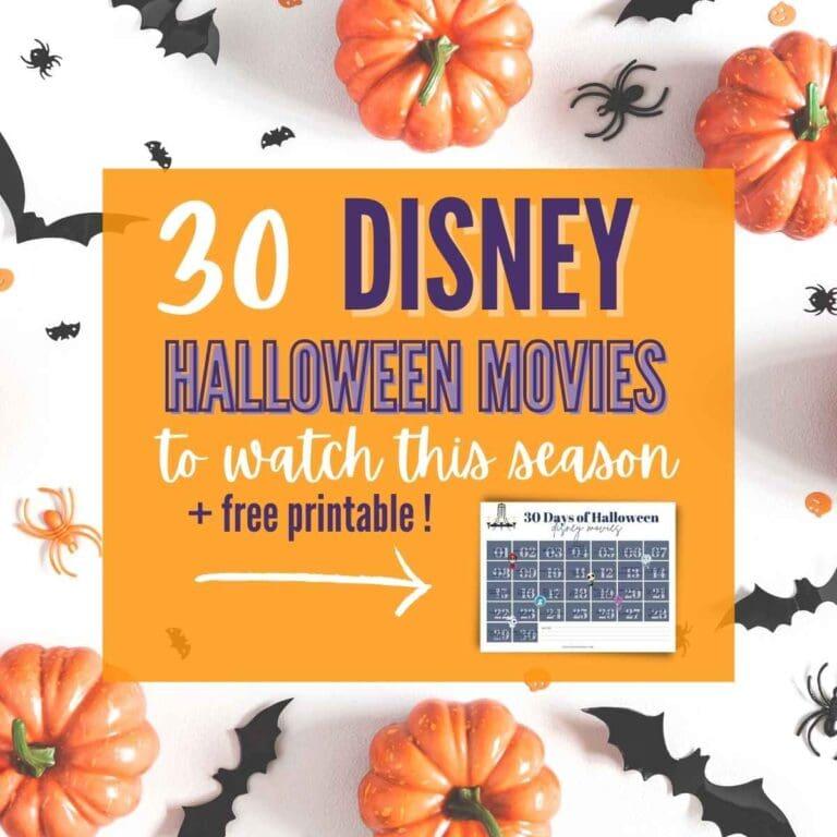 30 Disney Halloween Movies You'll Love {+ Printable}